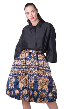 19ce707fa9 NORA BARTH Quilted Tulip Skirt Size 40   S Padded Floral Made in Italy RRP  239  fashion  clothing  shoes  accessories  womensclothing  skirts (ebay  link)
