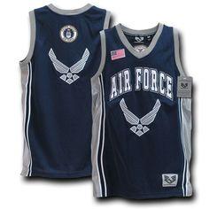 Rapdom Air Force Basketball Jersey, Navy