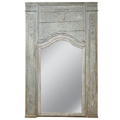 18th Century Grand Scale Painted Trumeau | From a unique collection of antique and modern trumeau mirrors at https://www.1stdibs.com/furniture/mirrors/trumeau-mirrors/