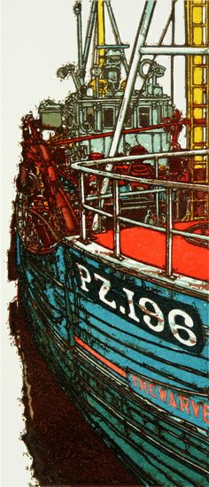 Alongside ~ Linocut by H.J. Jackson