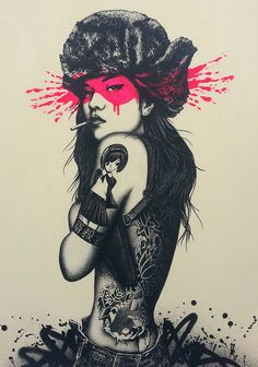 Fin DAC: The off white in place of solid white is great and the bright pink makes the image pop and stand out.