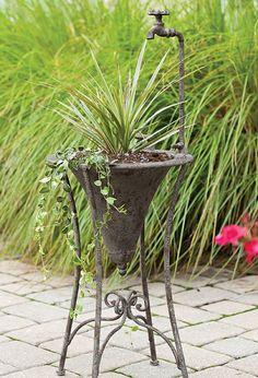 Metal Sink Stand Planter