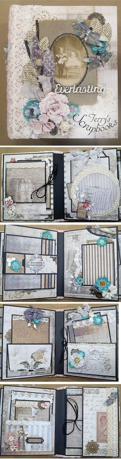 Terry's Scrapbooks: Tim Holtz French Industrial Scrapbook Mini Album Reneabouquets Design Team Project