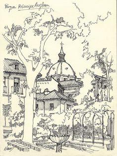 https://flic.kr/p/FKqP1E | En el Jardín Príncipe de Anglona | Mirando hacia la Almudena