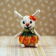 Bunny Tulip knitted bunny mini bunny dollhouse miniature
