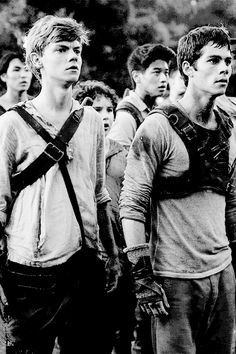 black an white.. thomas and newt... and Minho in the background!