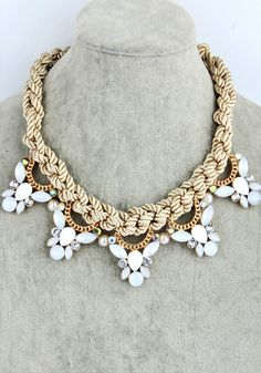 Champagne Braided Necklace