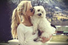glasses + earrings + hair + adorable dog