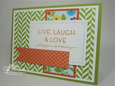 Challenge Card Supplies:  Card Stock: Lucky Limeade, Whisper White, Tangerine Tango  Designer Series Paper: Summer Smooches  Stamps: On Your Birthday  Ink: Tangerine Tango  Miscellaneous: Lucky Lime Stampin' Write Marker, Paper Piercing Tool & Mat Pack