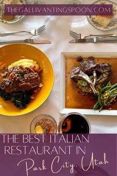 Deer Valley Utah, Utah Food, Best Italian Restaurants, Grape Salad, Park City Utah, Lamb Chops, Fine Dining, The Best, North America