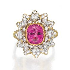 18 Karat Two-Color Gold, Pink Sapphire and Diamond Ring, Buccellati - Sotheby's