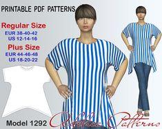 Tunic Sewing Pattern sizes 12-22 | Craftsy