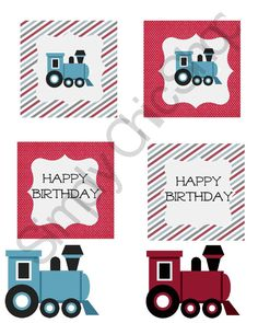 INSTANT DOWNLOAD Little Train Printables- Train Party by TheSimplyChicShop