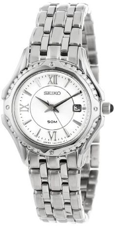 Seiko Womens SXDC35 Le Grand Sport White Dial Watch *** Read more reviews of the product by visiting the link on the image.Note:It is affiliate link to Amazon. #loving