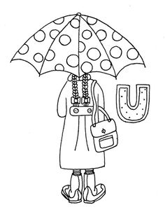 U is for Umbrella Umbrella Cards, Umbrella Girl, Candlewicking Patterns, Abc Worksheets, Old License Plates, Red Words, Baby Drawing, Help Teaching, Christian Parenting