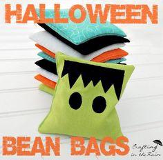 DIY Halloween Crafts : DIY Halloween Bean Bags