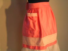 50s 60s Pink Apron