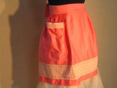 50s 60s Pink Apron