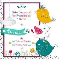 Convite Digital Passarinhos 003#Convite, #convite digital, #convite personalizado, #personalizado, #kit digital, #kit festa, #diy festa, #convite pronto, #convite festa , #convite festa infantil, #aniversário, #convite aniversário, #convite  chá de bebê, #chá de bebê  #convite digital chá de bebe, #imprimir e montar, #convite para imprimir #convite infantil #arte digital, #pamela oms, #pamela oms convites, #convite por email #convite passarinho