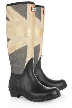 Hunter Original Tall Union Jack-print Wellington boots