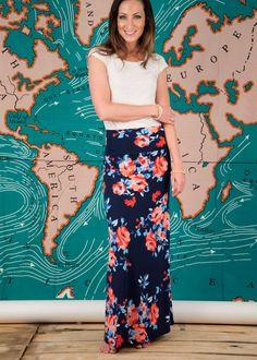 A Midnight Stroll Maxi Skirt | Agnes & Dora Store