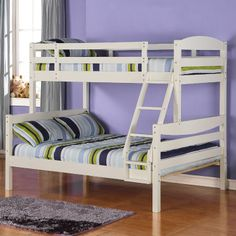 Twin over Double Bunk Bed & Twin over Full Bunk Beds with Blue Bunk Bed Tent | Bunk bed tent ...