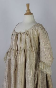 MET-Museum-White-Moire-Polychrome-Floral-Striped-Unusual-Gown-American-c-1795