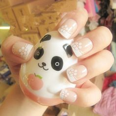 French flowers nail... <3 I wish I could do this... (: