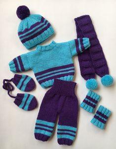 Big – Suggestions for Newborns Knitting Baby Girl, Baby Cardigan Knitting Pattern Free, Baby Boy Knitting Patterns, Boy Doll Clothes, Knitting Dolls Clothes, Doll Clothes Patterns, Knitted Doll Patterns, Knitted Dolls, Crochet Baby Booties