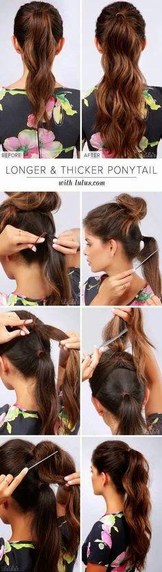 Longer thicker ponytail