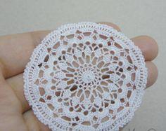 Miniature crochet square doily 1.2 inches dollhouse by MiniGio