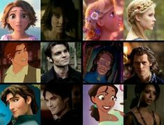 This is so perfect... Like Damon is my love frm tvd, Eugene is my fav prince among all Disney movies♡