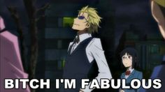 Yes. Yes you are Shizuo-san .  #IMFABULOUS #Durarara!!