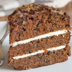 A very yummy recipe for carrot cake with mini chocolate chips and nuts.. Carrot Cake With Mini Chocolate Chips and Nuts Recipe from Grandmothers Kitchen.