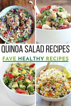18 Refreshing Quinoa Salad Recipes | Cooking with quinoa is so easy that you will want to make all of these healthy quinoa salad recipes.