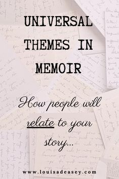 If you're #writing a personal #story but want readers to engage, no matter what their background or location, you need to ensure you connect your personal story to something Universal. Read the full blog to learn all about why universal themes are SO important for a compelling memoir! #writing #writingadvice #storytelling