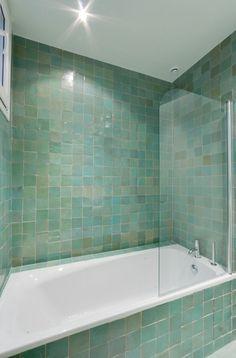 Baignoire dans salle de bain Appartement parisien de 110m2- GCG Architectes