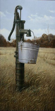 Running Dry Canvas Print / Canvas Art by William Albanese Sr William Albanese Sr - Running Dry Paint Country Life, Country Living, Old Water Pumps, Water Faucet, Pergola, Country Scenes, Water Well, Old Farm, Great Pictures