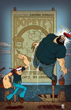 Popeye vs. Bluto - Daniel Bayliss