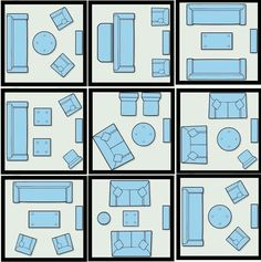 Different Layouts Small Living Room Ideas: 10 Ways to Furnish & Lay Out 100 Square Feet - move everything 1/2 turn to accomodate the door.