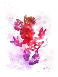 Minnie Mouse inspiré ART PRINT illustration Disney par SubjectArt