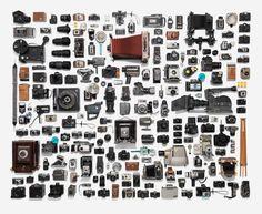 Ooooh...delicious, neatly organized vintage cameras! - Jim Golden Studio