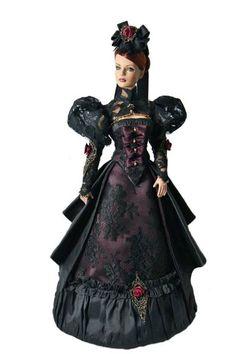 Fashion doll from RedSilkThread Gothic Dolls, Victorian Dolls, Antique Dolls, Barbie Dress, Barbie Clothes, Ooak Dolls, Art Dolls, Viktorianischer Steampunk, Manequin