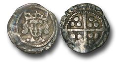 Edward IV (1461-1483), Penny, 0.46g., Heavy Cross and Pellets Coinage (1465), Dublin mint, crowned facing bust of Edward, rev., plain long cross, (S.6323; JBurns Du-1H (type 1)), very fine