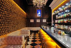 Noble Experiment - East Village, San Diego  Love the  gold Skull wall!!