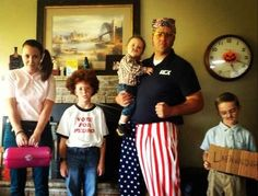 Napoleon Dynamite costumes for a family of 5 on Halloween. Heck yes, flipping sweet win!