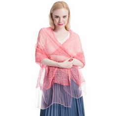 """Product: Long Soft LightWeight Silk Scarf/Shawl Color: Pink Size: 74'' X  23""""  Weight: 3.5 Ounce  Material: Polyester Silk  Price: $12.99  Gift Wrap available, and 30% off during Labor Day."""