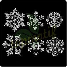 Christmas snowflake crystal rhinestone motif