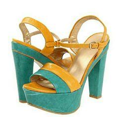 NIB STUART WEITZMAN PLATFORM NAPA HEELS 7.5 New in box. $405 Stuart Weitzman Once Platform Sandals. Yellow and green. Leather upper. 6 inch heel. Stuart Weitzman Shoes Platforms
