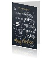 Vrolijke kerstwens kerstkaart sneeuwpop Art Quotes, Chalkboard Quotes, Letters, Typography, Letter, Lettering, Calligraphy